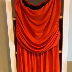 City Chic Orange maxi dress size L 20